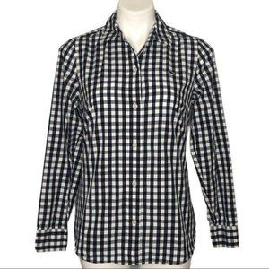 Vineyard Vines Black/White Gingham Checked Top, 6